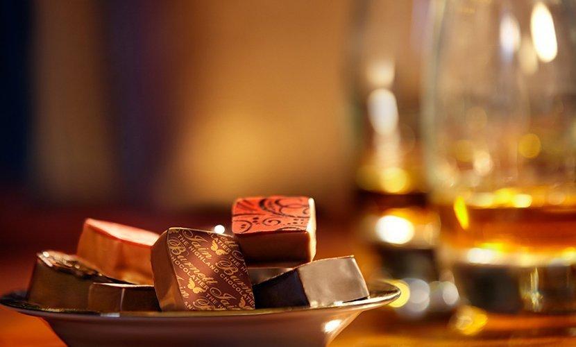 Whisky companion chocolates from Iain Burnett, Highland Chocolatier