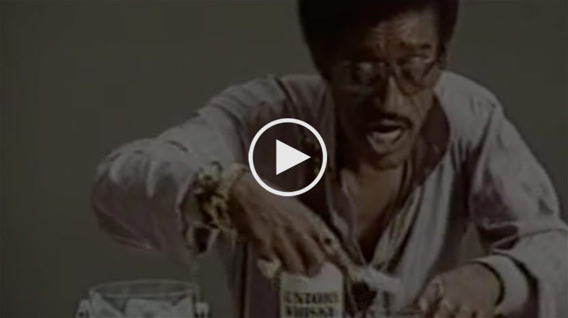 Sammy Davis Jr Whisky advert