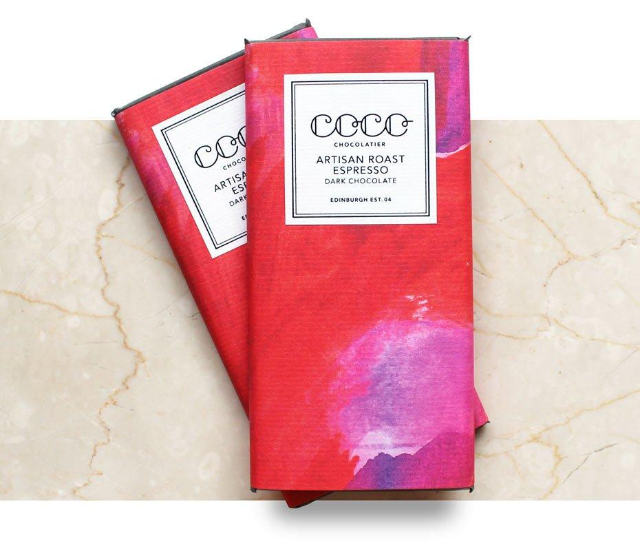 Coco Artisan Roast Espresso Dark Chocolate