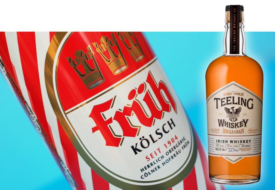 Früh paired with Teeling single grain