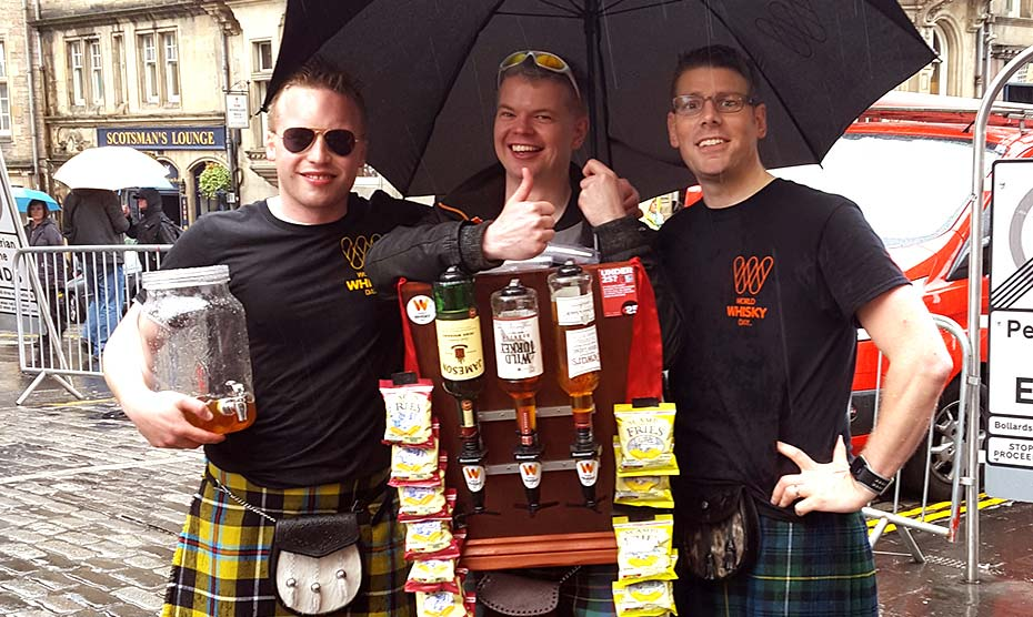 The Human Whisky Bar in Edinburgh