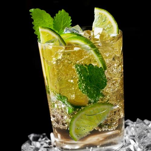 Bourbon Mojito cocktail