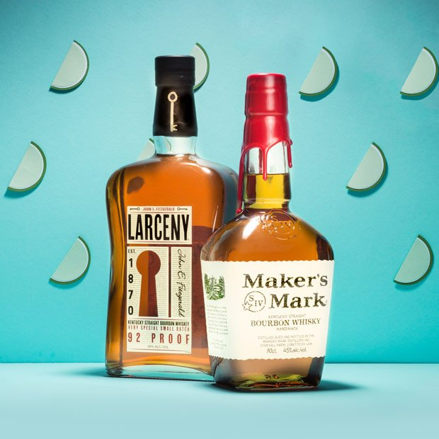 Makers Mark and Larceny Bourbon
