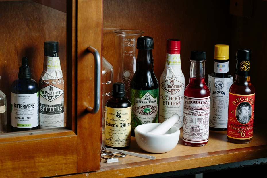 Collection of cocktail bitters