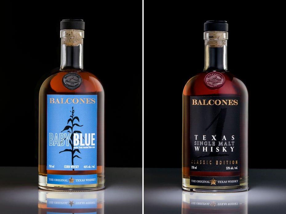 Balcones Baby Blue and Balcones One Single Malt Whisky