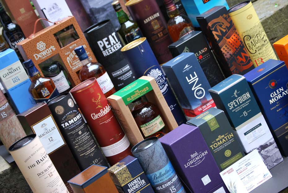 Whisky raffle collection