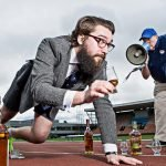 Blair Bowman limbers up for the Great Distillery Challenge