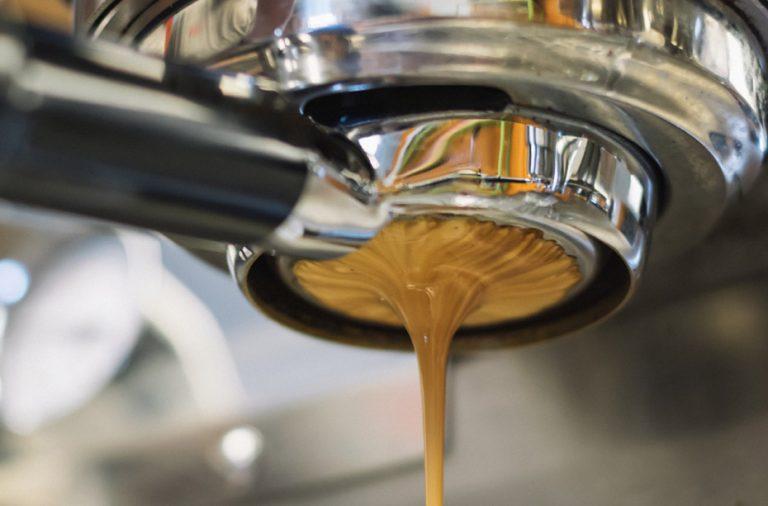 Espresso shot being poured