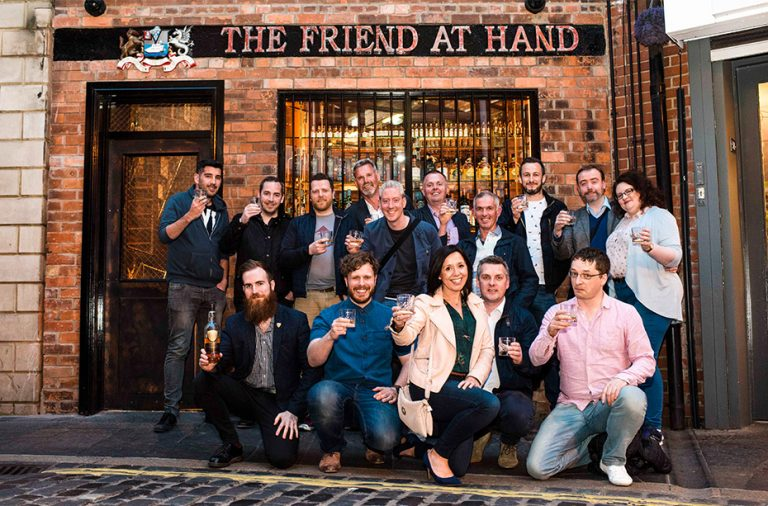 Taste & Tour group outside the Friend at Hand pub in Belfast