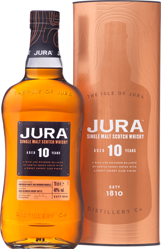 Jura 10yo bottle and box