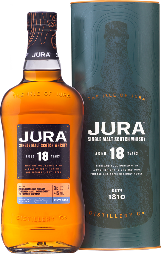 Jura 18yo bottle and box