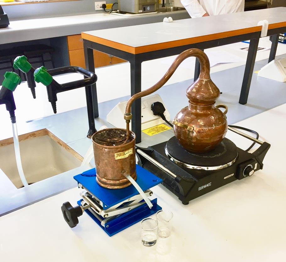 A small laboratory still