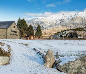 Cardrona Distillery in the snow