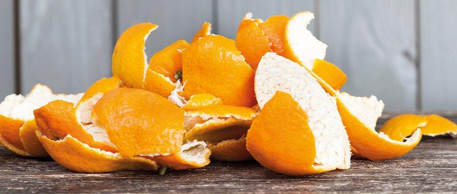 Pile of orange peel
